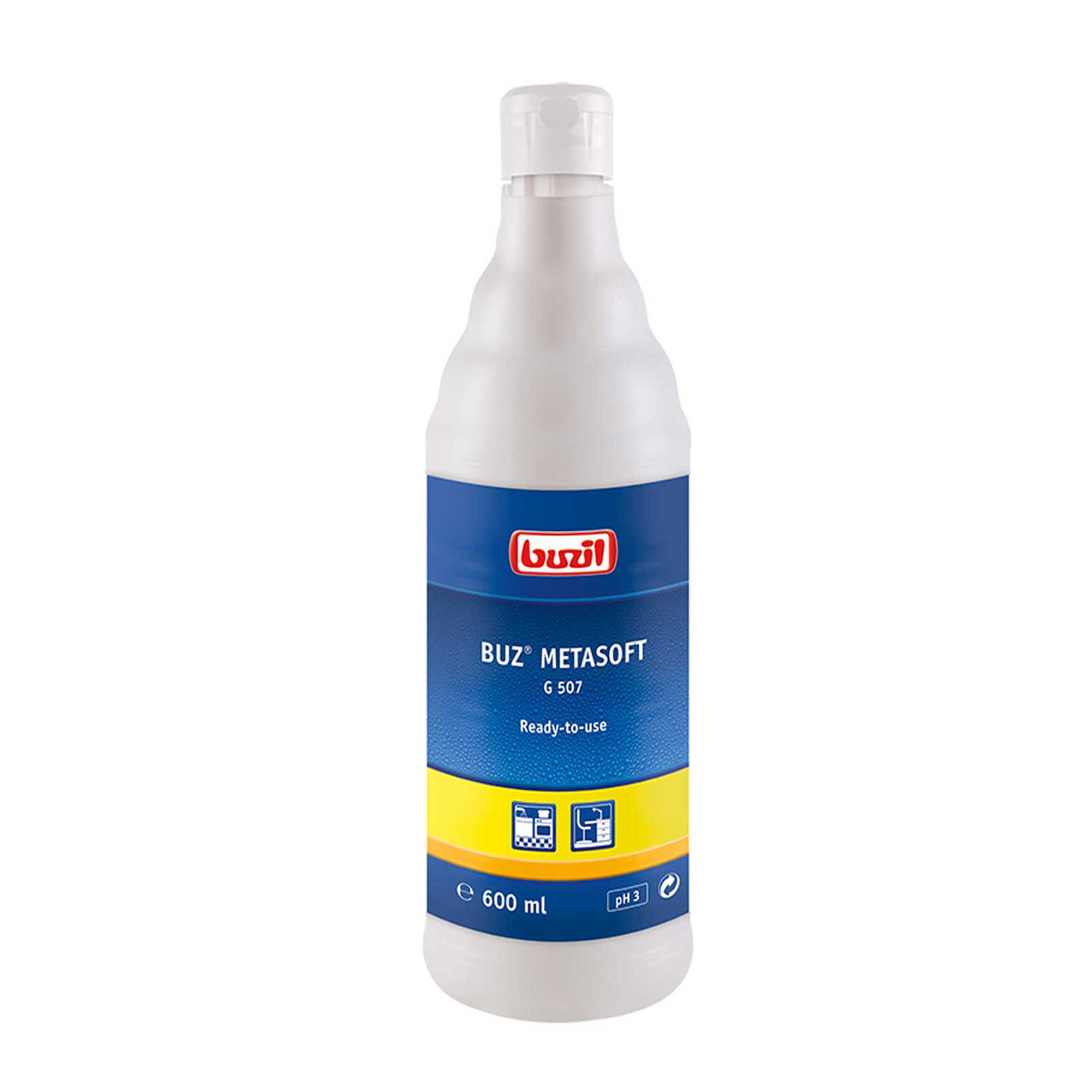 1025807 Buz Metasoft G 507 RVS reiniger 600ml