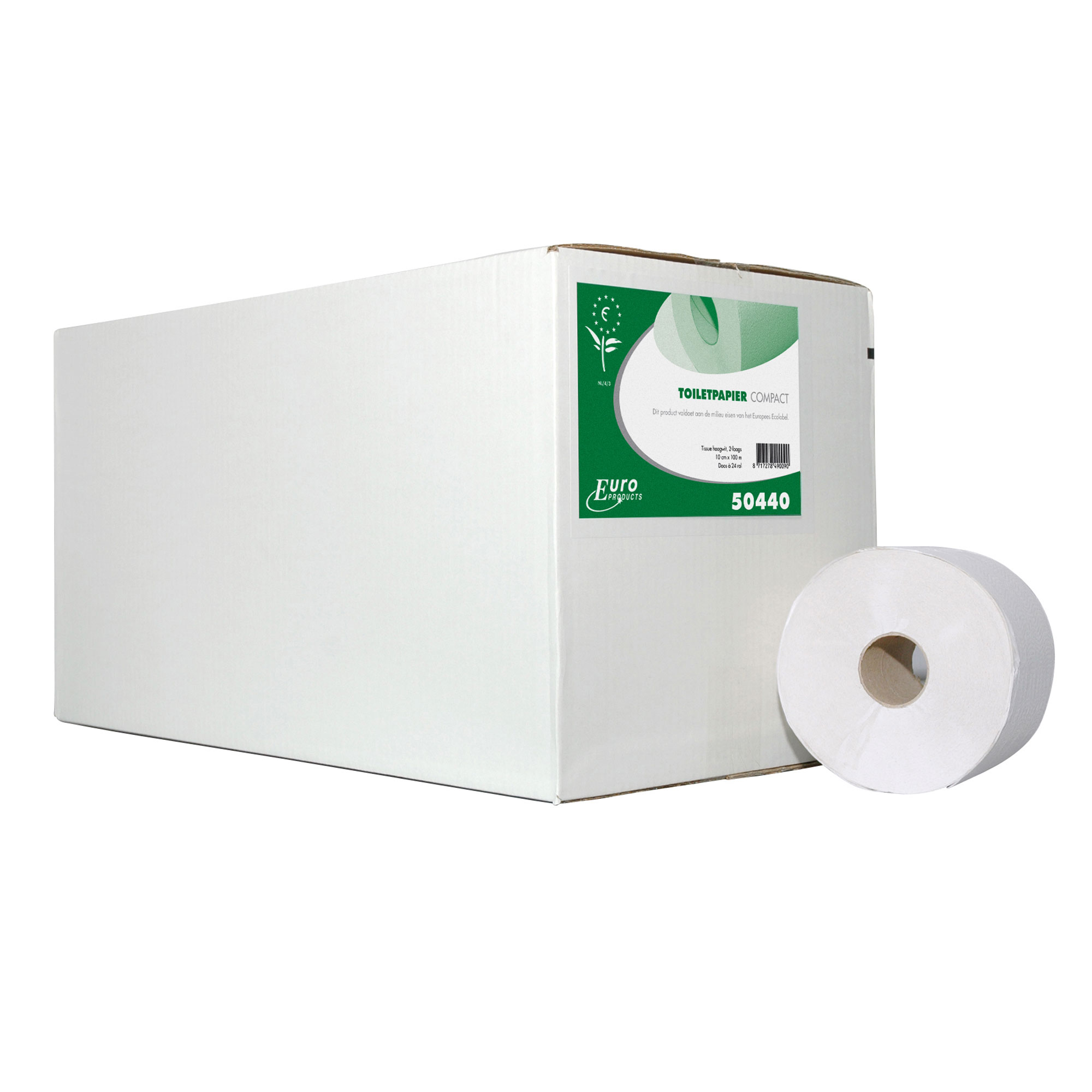 3030120 Toiletrol Compact rec. Tissue Wit 100mtr 725 vel 2lgs 24st